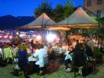 La Tirlindana in Piazza Matteotti during St John's Festival evening in June or July