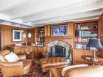 Study/Den with Flat Screened TV, opens to Porch Overlooking Harbor
