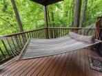 hammock on bottom deck