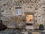La Belle Grange exterior of French windows to double bedroom