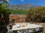 Back patio against Table Mountain