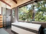 I designed La Casita around the two person soaking tub by Wetstyle
