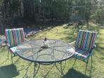 Outdoor dining table & 4 chairs.