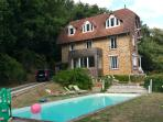 19th century house with pool, forest, view,  all equipped and renovated, very comfortable / typical