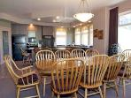 Large dining table seats up to 10