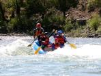 White water fun, with our son, a former raft guide on the Yellowstone River.
