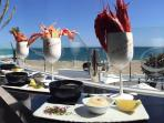 Olivia's in La Cala, frontline venue, for breakfast, lunch or dinner, great place, location, book!