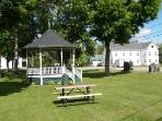 Andover Common, adjacent to Tiny House, free concerts on Friday nights in summer!