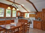Recently updated eat-in kitchen with new appliances and granite