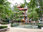 Self-contained Courtyard with Children Playground