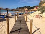 Santa Eulália Beach (10 min by feet)