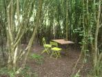 A dining area in the glade, perfect for intimate dinners or getting that novel written!