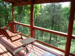 Lower Balcony with seating for 6 overlooking Garner Branch of Table Rock Lake