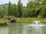 Quite a few water features surround the Hidden Creek condominiums development.