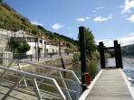 Façade of the house and Aregos pier