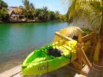 Explore the canals and lagoon with our tandem kayak.