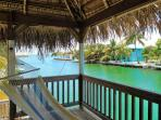 Take in the breeze as you swing under a shady palapa roof in the lookout tower.
