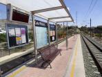Estacion del tram a 400 metros de casita