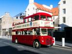 One of the many tourist buses. This hop-on/off tour is 2mins walk from the flat