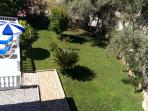 View of garden from the bedroom balcony