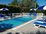 Plenty of space by the pool