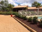 jardin  possibilité de jouer aux boules