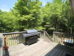 Deck with large gas grill
