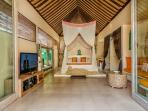 comfortable master bedroom with LCD TV and International channel