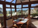 Extending Dining Table in the conservatory