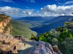 View from the top of Wentworth Falls ... copyright: Phil Young Photographs