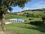 The Pool and View Across the Valley