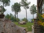 The lovely gardens, with a 360 degree panoramic view of mountains