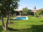 le jardin et la piscine