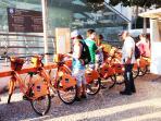 Bike Rentals & Metro Station