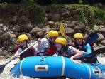 River rafting class III and IV - available from Victoriás Rural House.