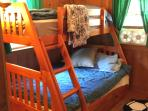 double size bed with twin bunk and trundle