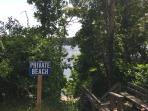 Access to private association beach on Follins Pond within walking distance