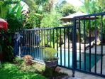 A removable pool fence can be installed if you have children.