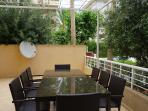 foto de la terraza del apartamento