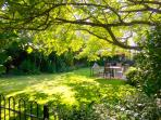 sit under the shade of the walnut tree and relax