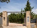 Entrance from luxury villa chania