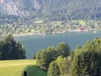 PresseggerSee Lake, looking down from Italy