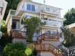 The home offers 3 bedrooms, 2 bathrooms, and 3 gorgeous balconies.