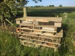 A recent addition is our bug hotel which complements the diverse ecosystem of the area