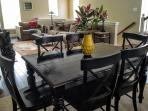 Dining area to enjoy a home cooked meal or gourmet delivery from Uber Eats from morning to night.