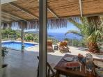 View over Alfresco Area, Pool and Kalkan Bay