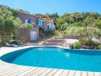 Villa & piscine privée vue mer panoramique