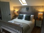 Beautiful vintage style king-size bedroom