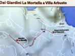 Circa un 1 km la distanza da Villa Arbusto con i Giardini de 'La Mortella'