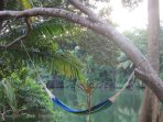 relax by the river on your hammock